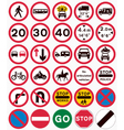 road traffic order signs vector image