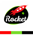 Rocket in spase Logo Template vector image
