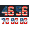 set numbers vector image vector image
