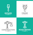set of construction crane hook paint brush vector image