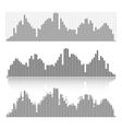 Set of graphic equalizers on a white background vector image vector image