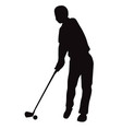 silhouette of golf swing front view vector image