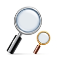 Silver and Golden Magnifying Glass vector image vector image