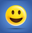 simple emoticon emoji smile laugh face icon vector image