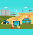smart farm and agricultural automation and vector image vector image