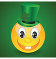 smile on green background vector image vector image
