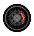 sport car racing rim icon vector image vector image