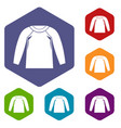 sports jacket icons set vector image vector image