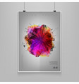 stock fluid shapes poster vector image vector image