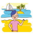 summer time people vector image vector image