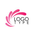 swirl colored paint logo vector image