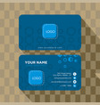 template business abstract card creative corp vector image vector image