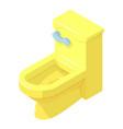 toilet icon isometric style vector image vector image