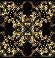 vintage seamless pattern on a black colors with vector image vector image