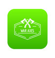 war axe icon green vector image vector image