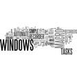 windows macro create macros to automate common vector image vector image