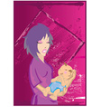 Woman holding baby vector image vector image