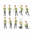 young handsome man - cartoon people vector image vector image