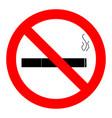 ban smoking icon vector image