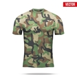 Under layer compression shirt in camouflage style vector image