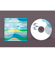 CD cover design template Abstract pattern graphics vector image