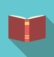 Red book flat style vector image