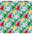 abstract bell pepper seamless pattern on striped vector image vector image