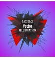 Abstract red polygonal explosion vector image