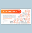 advertising web banner business card template