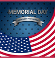 american flag for memorial day vector image