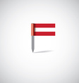 austria flag pin vector image vector image