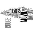 baton rouge movie theaters text word cloud concept vector image vector image