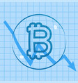 bitcoin dropping price bubble vector image vector image