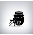 Black bees and honey vector image vector image