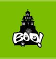 boo typography design vector image vector image