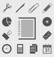 business and office icon vector image