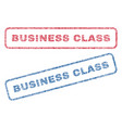 business class textile stamps vector image vector image