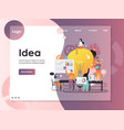 business idea website landing page design vector image