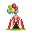 circus tent entertainment icon vector image