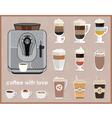 Coffee machine and equipment vector image