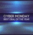 cyber monday background binary code sale concept vector image vector image