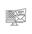 e mail line icon concept e mail linear vector image