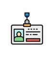 employee pass id card identity profile flat vector image