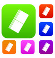 eraser set color collection vector image vector image