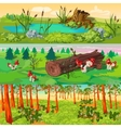 Forest Horizontal Banners Set vector image