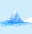 geometric high mountain landscape vector image vector image