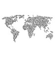 global map mosaic of photo camera icons vector image