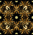 gold template seamless pattern golden elements vector image