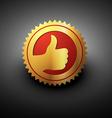 golden best choice label vector image vector image