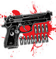 gun texture grunge black red vector image